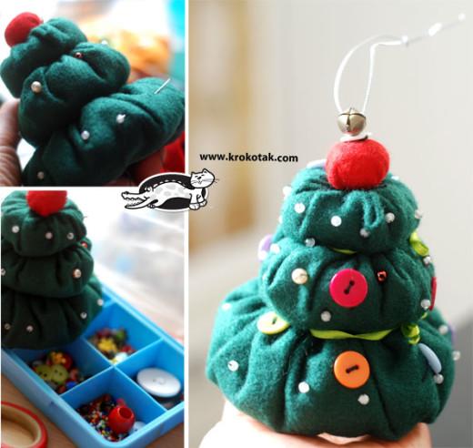 Textile fir tree