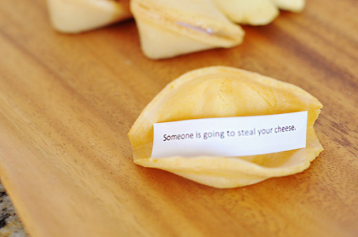The Cheese Thief: Store Bought Fortune Cookies with Your Own Message