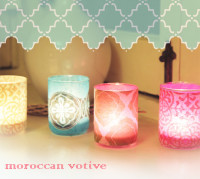 diy moroccan inspired votive