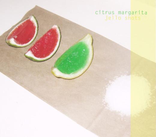 citrus margarita jello shots