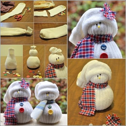 Cute Snowmen from Socks | DIY