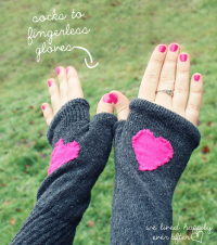Finger-less Gloves made from Socks | DIY