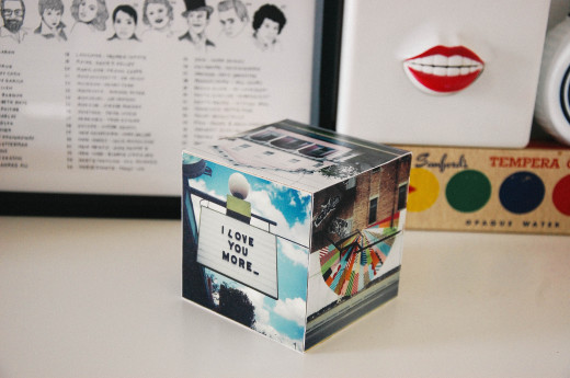 DIY INSTAGRAM PHOTO CUBE