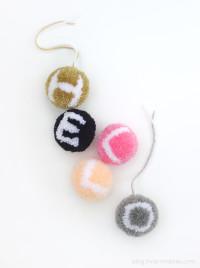 Alphabet Pompoms | DIY and Crafts