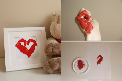 Heart hand stamps | Such a fun diy idea for kids. They can make these for mothers day, valentines or any other holiday.