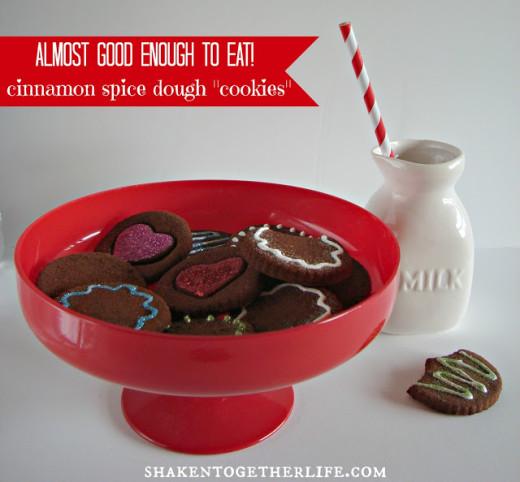 cinnamon spice dough cookies {non-edible & calorie free!} | Valentines Day Ideas