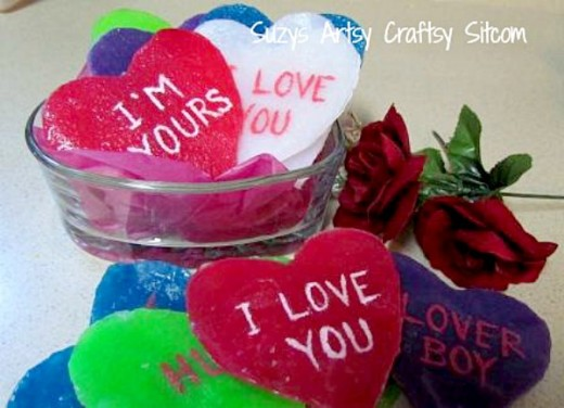 Conversation Heart Soaps for Valentines Day