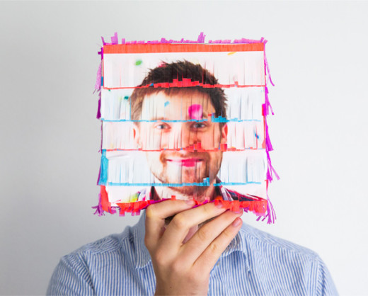 Fun photo piñatas for any party. Immortalize the face of your friends.