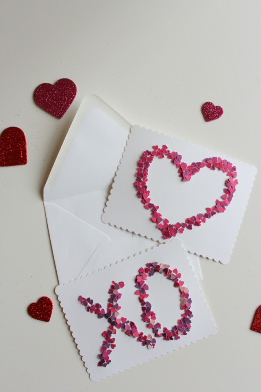 Design Improvised: DIY Valentine   Confetti Valentine's