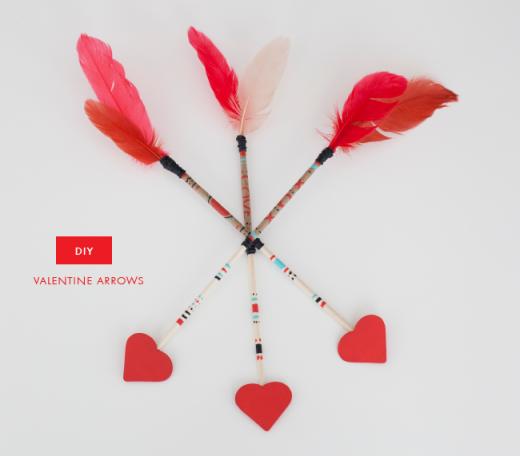 designing a life: DIY   VALENTINE ARROWS