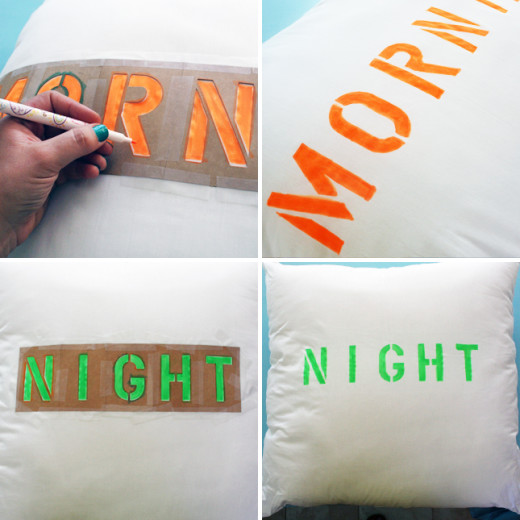 DIY  Easy Ways to Add Type to Pillows