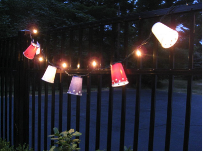{DIY} Becky's Patriotic Outdoor Lights | Party People