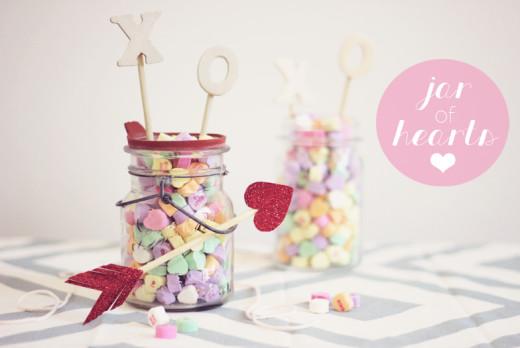 DIY: Candy Heart Jars | Valentines Day Ideas
