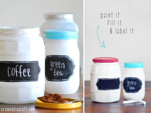 DIY: Chalkboard Label Jars