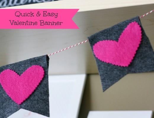 DIY: Felt Valentine Banner   Valentines Day Ideas
