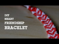 DIY Heart Friendship Bracelet Tutorial
