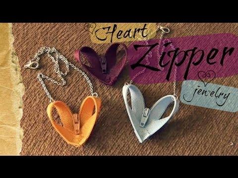 DIY: Heart Zipper Jewelry
