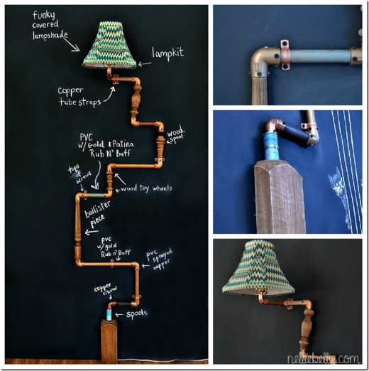 Anthropologie-inspired diy Pipe Lamp