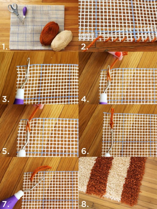 DIY Latch Hook Rug from Beautiful Mess