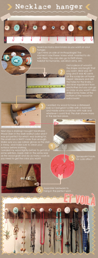 DIY NECKLACE / COAT HANGER | DIY Organized