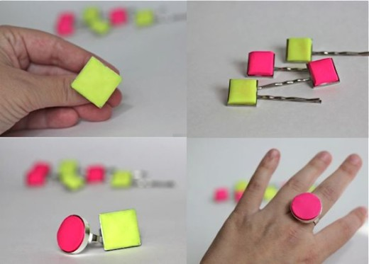 DIY Clay Statement Neon Ring | rock on with the neon!