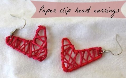 DIY Paper Clip Heart Earrings – Valentines Day Ideas