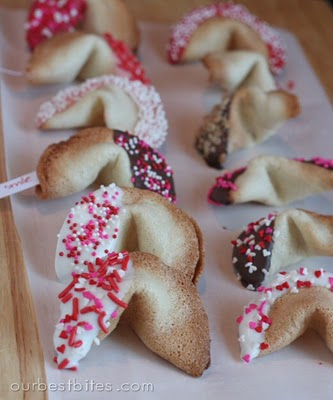 Fortune Cookies with message inside | Valentines Day Ideas
