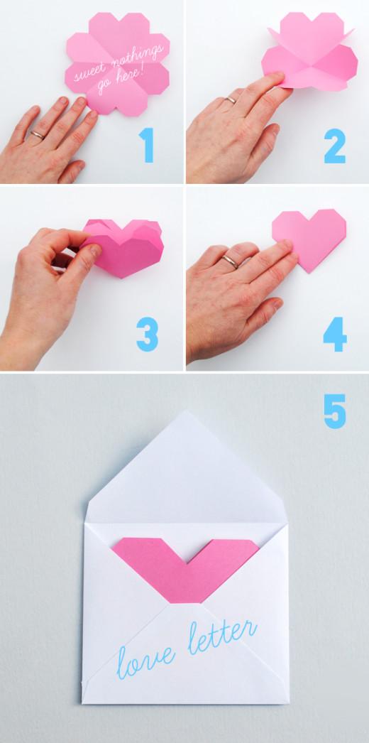 geometric heart: love letters