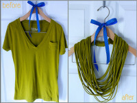 Easy No-Sew T-Shirt Necklace | DIY Reuse