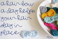DIY Crocheted Hair Bows