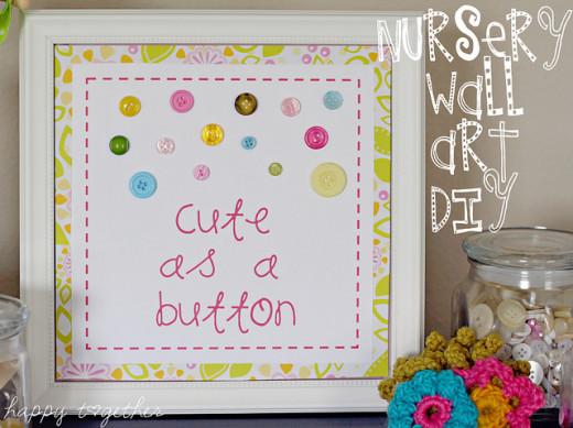 Cute as a Button Wall Art Tutorial