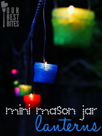 Mini Mason Jar Hanging Lanterns from Our Best Bites