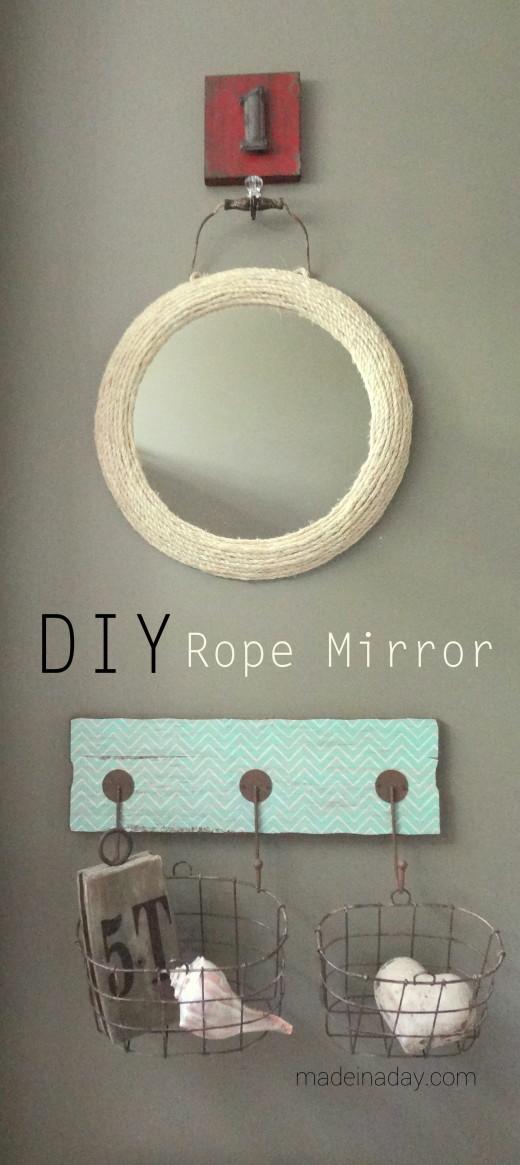 Jute Rope Mirror | DIY