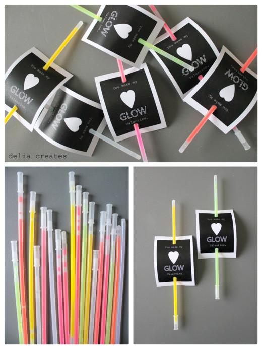 Last Minute Glow Stick Valentines | Valentines Day Ideas
