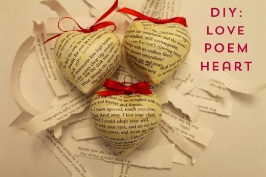 Linen, Lace, & Love: DIY: Love Poem Hearts