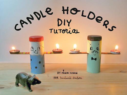 Make Your Own Folksy Tea Light Candle Holders | Handmade Charlotte