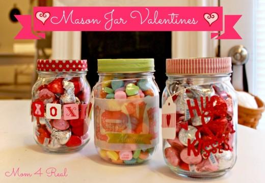 Mason Jar Valentine's   Valentines Day Ideas