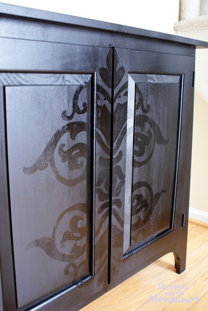 DIY Damask Cabinet | DIY Home projects