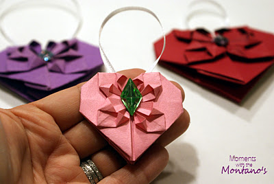 You have my heart – DIY Origami Hearts – attach them to anything
