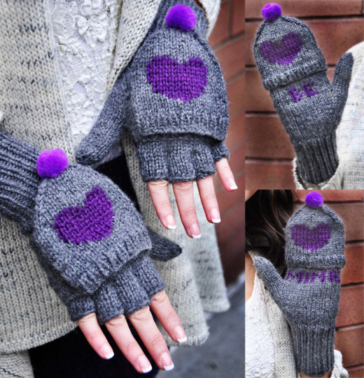 """Valentine's Day Knitting Pattern Collection """"Follow Your Heart"""" 