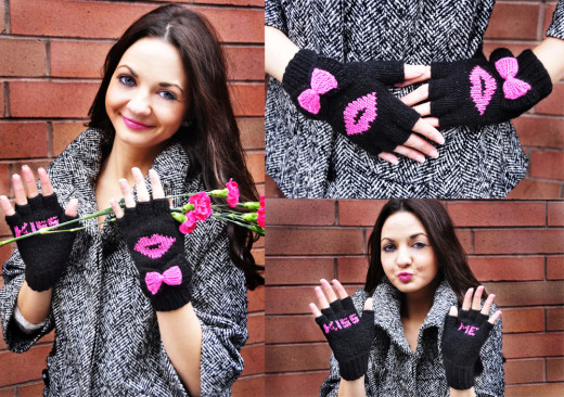"New Girly Knits Valentine's Day Knitting Pattern Collection ""Follow Your Heart"" 