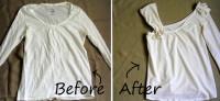 One Shoulder Ruffle Shirt – Upcycled | DIY