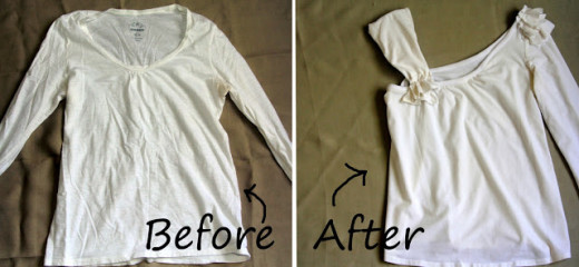 One Shoulder Ruffle Shirt – Upcycled | DIY