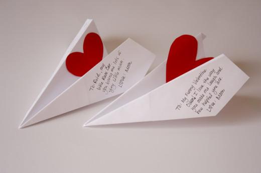 Paper Airplane Boy Valentines   Valentines Day Ideas