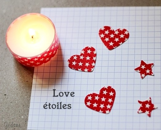 DIY Candle Makeover and hearts | Valentines Day Ideas