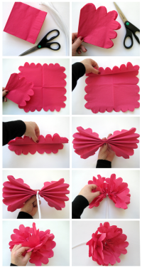 Pretty Paper Napkin Flowers | DIY Party People