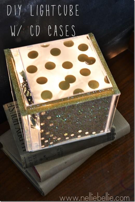 Repurpose cd cases –  diy light cube