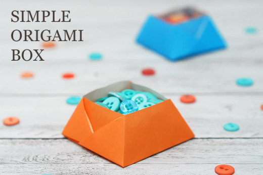 SIMPLE ORIGAMI BOX   DIY and Crafts