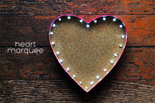 DIY Heart Marquee Light   DIY and Crafts