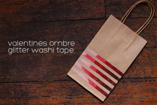 Valentines Ombre Glitter Washi Tape DIY